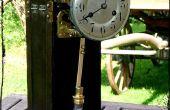 El reloj de péndulo de Steampunk del dirigible pirata