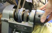 Desmontaje de un cabezal de torno (velocidad 10) Myford ML10 - rodamientos de rodillos cónicos