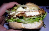 Hamburguesa vegetariana haloumi con todos sus adornos!