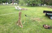 Slackline sin árboles - cómo construir un bastidor