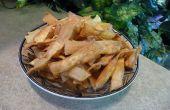 Cómo freír hasta crujientes Chips de tallarines de huevo