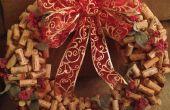 Corona de corcho de vino