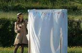 IKEA Hack: Wedding Photo Booth de armarios de lona
