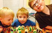 Cementerio de niños Halloween pastel