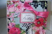 Cómo hacer una tarjeta Floral rosa diseñador