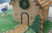 Casa de galleta con luces de Navidad