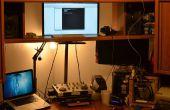 Ajustable altura Monitor para soporte para escritorio usando película ampliadora cuello