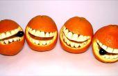 Cómo hacer una sonriente cara naranja