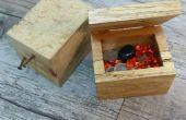 Caja de madera de la plataforma de la joya