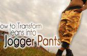 DIY moda | Cómo transformar Jeans en pantalones Jogger