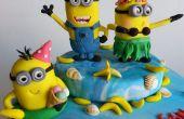 Cómo hacer fondant Minion de cumpleaños