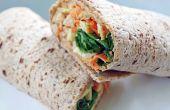 Saludable proteínas alcachofa Hummus, envuelva