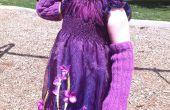 Púrpura Vestido de flores