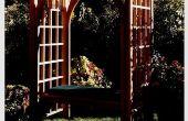 ¿Cómo construir un jardín enrejado con asiento