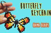 Mariposa llavero con abalorios Hama
