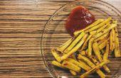 Papas fritas de plátano verde rápido