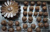 Pasteles de banana mini mantequilla de almendra con pepitas de chocolate