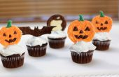 Halloween calabaza Chocolate Cupcake Toppers