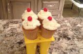 Cupcakes de helado de cono