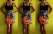BRICOLAJE reunieron falda de impresión africana + cremallera