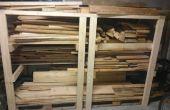 """Estante de 2 x 4"""" de madera"""