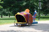Escultura cinética de bicicleta de tres ruedas