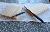Tabla de cortar con el soporte de cuchilla