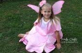 Dip teñidos Ombre Vestido de hadas de pétalo de rosa!