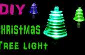 Hacer girar la luz el árbol de Navidad con LEDs y juguete Motor
