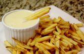 Fondue de papas fritas libre de gluten