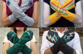 Como hacer calentadores de brazos superhéroe de una camiseta vieja