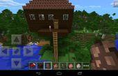 Treehouse de Minecraft para una familia vivir en