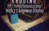 Arduino temperatura y humedad pantalla con pantalla de 7 segmentos