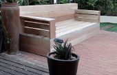 Hacer tus propios muebles de madera patio