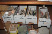 Reciclaje de plástico en una caja de herramientas handy
