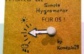 Hacer un simple higrómetro 0 $! (ideal para tus niños!)