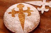 Tarta de almendras - receta de Tarta de Santiago