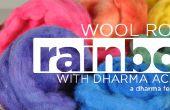 Itinerante del arco iris - teñido de lana con colorantes ácido