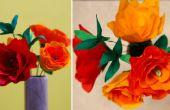 Manualidades bricolaje: Cómo hacer flores de papel crepé rosa