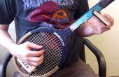 Volverse una guitarra de 3 cuerdas de una raqueta de tenis