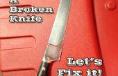 TIG soldadura un roto cuchillo