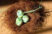 Cómo construir el nido de pájaro y la arcilla de porcelana fría huevos (nueva receta)!