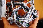 Doble Makalu - Origami Scupture: 12 pentágonos tejidos (sin cola)