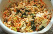 Sabrosa ensalada de vegano crudo