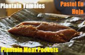Cómo hacer Pasteles En Hoja o Tamales de plátano o plátano carne bolsillos