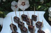 Sandía con chocolate