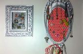 Exhibición de la joyería reciclado