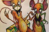 Cómo dibujar ratones zombi...