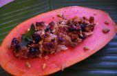 Malasia Papaya cocida al horno con jengibre