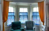 Cortinas de la ventana de la bahía de $7,25.